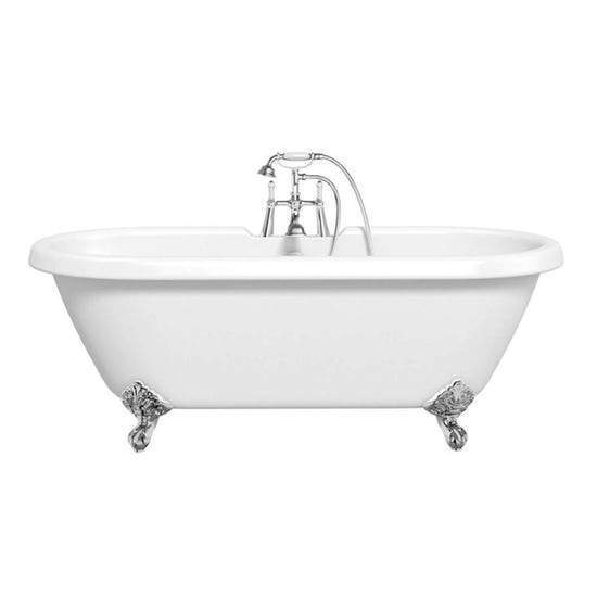 Kings Royal White 1695 Traditional Double Ended Roll Top Bath C/w Chrome Ball & Claw Feet