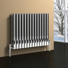 Reina Nerox Double Horizontal Steel Radiator 600 x 590 - Polished - welovecouk
