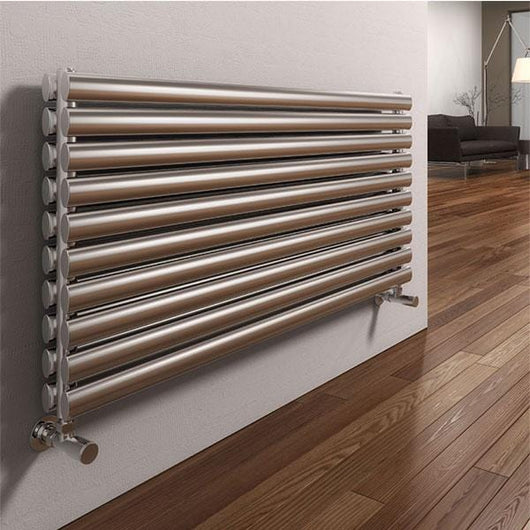 Reina Artena Double Steel Radiator 590 x 400 - Brushed - welovecouk