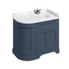 Burlington 1000mm Right Hand Corner Vanity Unit with Minerva Worktop - Blue