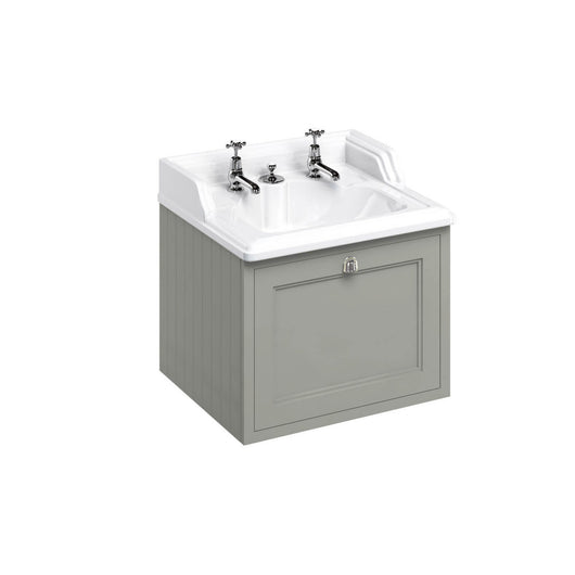 Burlington Wall Hung 650mm Vanity Unit with Classic Basin - Dark Olive