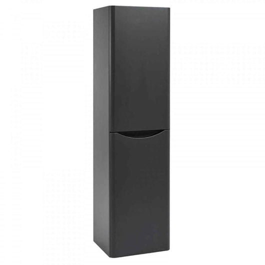 Bella Wall Mounted 400mm Tall Cabinet - Graphite Grey - welovecouk