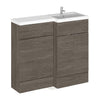 Siena 1000mm Vanity & WC Set with Square Pan - Grey Avola