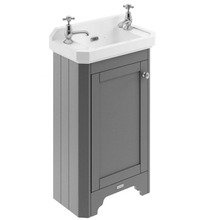 Old London 515Mm Cloakroom Vanity Unit & Ceramic 2Th Basin - Storm Grey Units