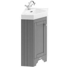 Old London Cloakroom Corner Vanity Unit & Ceramic 1 Tap Hole Basin - Storm Grey Units