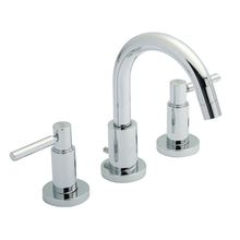 Hudson Reed Tec Lever 3-Hole Basin Mixer Tap Deck Mounted 3 Hole