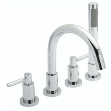 Hudson Reed Tec Lever 4 Hole Bath Shower Mixer Tap With Kit & Hose Retainer