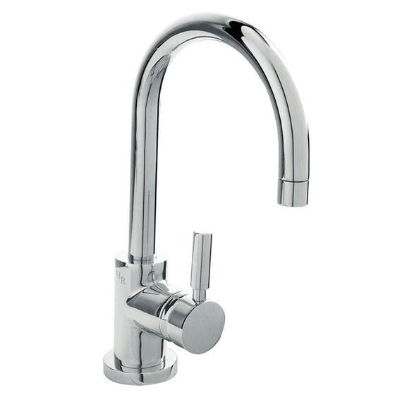 Hudson Reed Tec Single Lever Side Action Mono Basin Mixer Tap with Basin Waste - welovecouk
