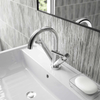 Hudson Reed Tec Lever Mono Basin Mixer Tap With Waste