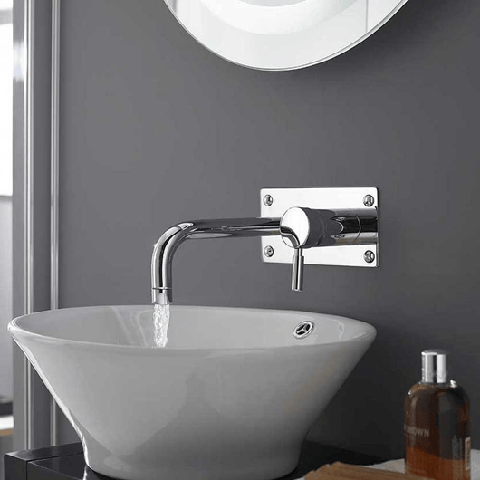 Hudson Reed Tec Wall Mounted Lever Basin / Bath Filler Tap