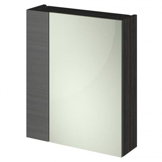 Nuie Fusion 600mm 2-Door Mirrored Cabinet - Hacienda Black