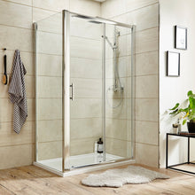 ShowerWorX Atlantic 1400mm Sliding Shower Door - welovecouk