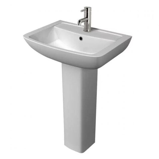 Refine 1 Tap Hole 550mm Basin & Full Pedestal