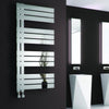 Reina Ricadi Steel Heated Towel Rail 840 x 500 - Polished - welovecouk