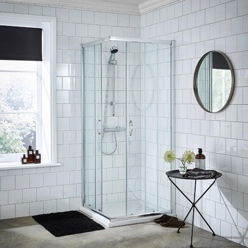 ShowerWorX Lela 800 x 800mm Corner Entry Shower Enclosure