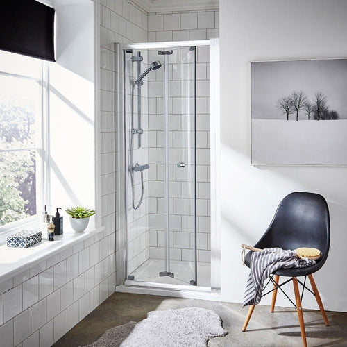 ShowerWorX Lela 900mm Bi-Fold Shower Door