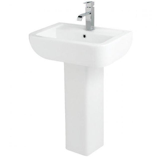 Options 1 Tap Hole 550mm Basin & Full Pedestal