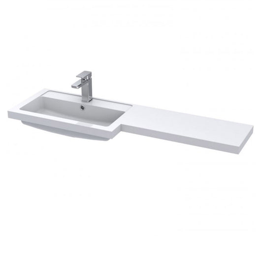 Siena 1200mm Combination Unit with 300mm Basin Unit - White