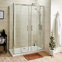 ShowerWorX Atlantic 1400mm Double Sliding Shower Door - welovecouk