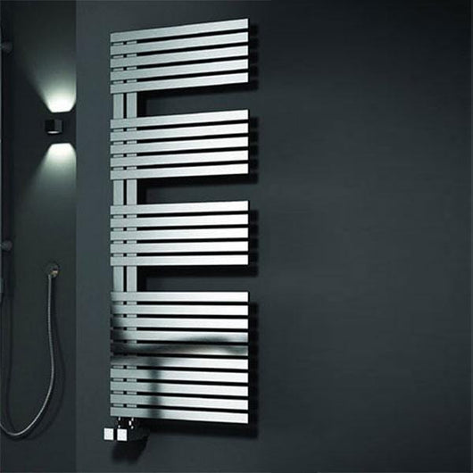 Reina Entice Steel Heated Towel Rail 770 x 500 - Brushed - welovecouk