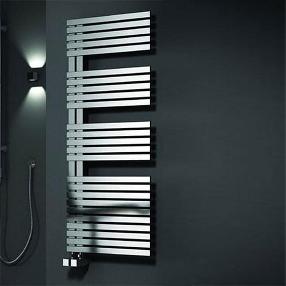 Reina Entice Steel Heated Towel Rail 1700 x 500 - Brushed - welovecouk