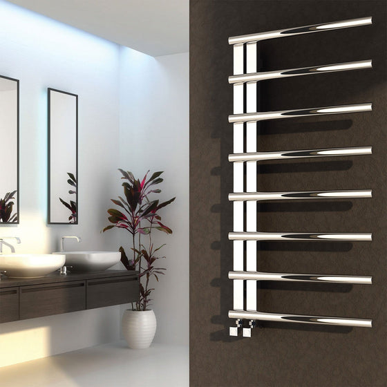 Reina Celico 585 x 500 Stainless Steel Heated Towel Rail - welovecouk