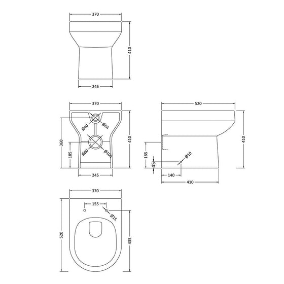 Melody Back to Wall Toilet & Soft Close Seat - welovecouk