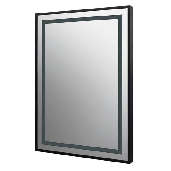 Darcy Wall Mounted Black Framed LED Mirror - welovecouk