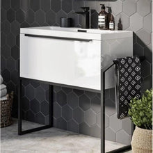 Eclipse 600 Basin, Cabinet & Black Frame - welovecouk
