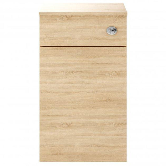 Mantello 500mm Back to Wall WC Unit - Natural Oak