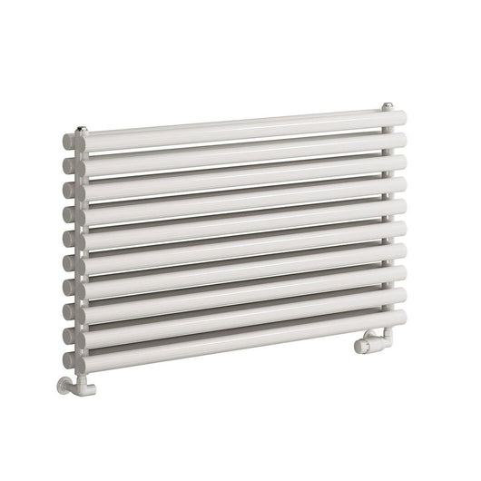 Reina Nevah Double Horizontal Steel Radiator 590 x 1400 - White - welovecouk