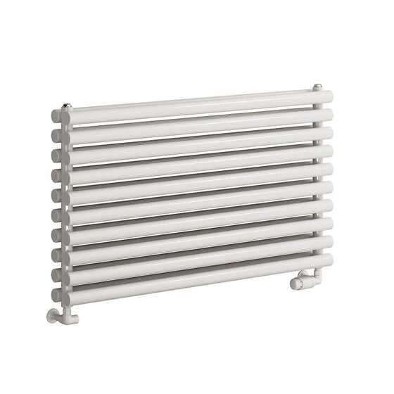 Reina Nevah Double Horizontal Steel Radiator 590 x 1000 - White - welovecouk