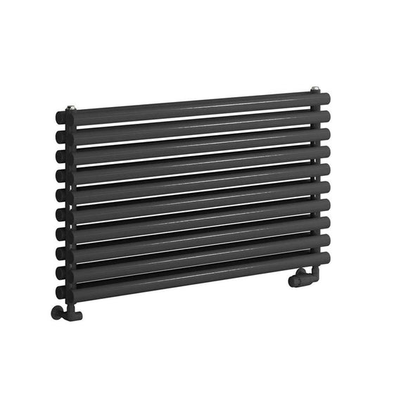 Reina Nevah Single Horizontal Steel Radiator 590 x 1200 - Anthracite - welovecouk
