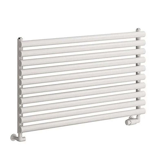 Reina Nevah Single Horizontal Steel Radiator 590 x 1200 - White - welovecouk