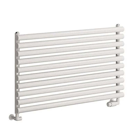 Reina Nevah Single Horizontal Steel Radiator 590 x 1000 - White - welovecouk
