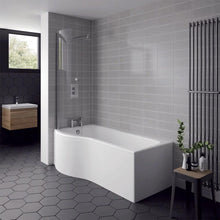 P-Shaped 1700 x 850 Shower Bath - welovecouk