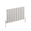 Reina Belva Single Horizontal Aluminium Radiator 600 x 1036 - White - welovecouk