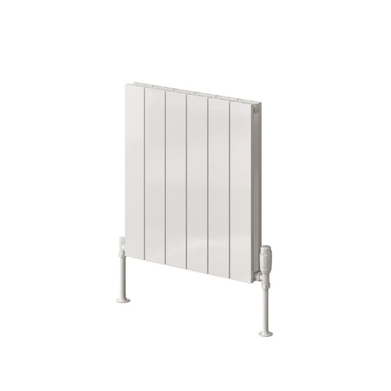 Reina Casina Double Horizontal Aluminium Radiator 600 x 470 - White - welovecouk