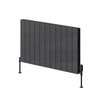 Reina Casina Double Horizontal Aluminium Radiator 600 x 850 - Anthracite - welovecouk