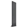 Reina Flat Vertical Mild Steel Double Column Radiator 1800 x 440 - Anthracite - welovecouk