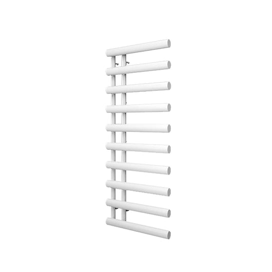 Reina Grace Vertical Steel Heated Towel Rail 1140 x 500 - White - welovecouk