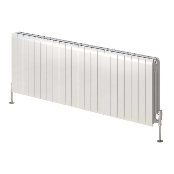 Reina Miray Single Horizontal Aluminium Radiator 430 x 1200 - White - welovecouk