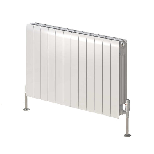 Reina Miray Single Horizontal Aluminium Radiator 430 x 640 - White - welovecouk