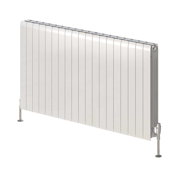 Reina Miray Single Horizontal Aluminium Radiator 580 x 1040 - White - welovecouk