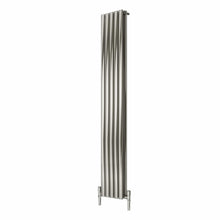Reina Nerox Double Vertical Steel Radiator 1800 x 295 - Brushed - welovecouk