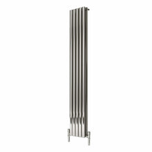 Reina Nerox Double Vertical Steel Radiator 1800 x 295 - Polished - welovecouk