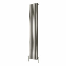 Reina Nerox Double Vertical Steel Radiator 1800 x 354 - Brushed - welovecouk