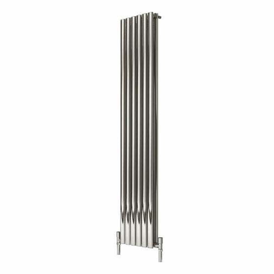 Reina Nerox Double Vertical Steel Radiator 1800 x 354 - Polished - welovecouk