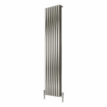 Reina Nerox Double Vertical Steel Radiator 1800 x 413 - Brushed - welovecouk