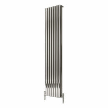 Reina Nerox Double Vertical Steel Radiator 1800 x 413 - Polished - welovecouk
